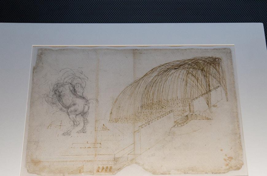 Leonardo da Vinci Codex Atlanticus 1 Biblioteca Ambrosiana Milano Inexhibit