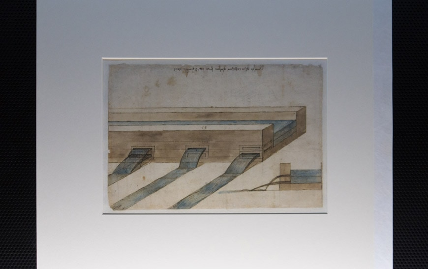 Leonardo da Vinci Codex Atlanticus 3 museum Milan Inexhibit