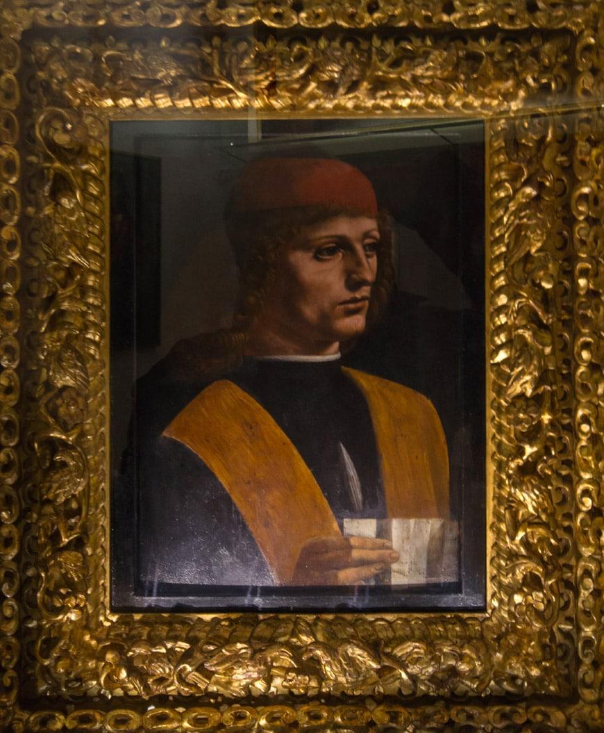 Leonardo da Vinci Ritratto Musico Pinacoteca Ambrosiana Milano Inexhibit