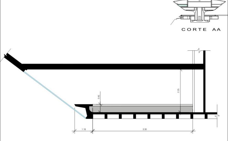 Museu de Arte Contemporanea de Niteroi Oscar Niemeyer cross section detail
