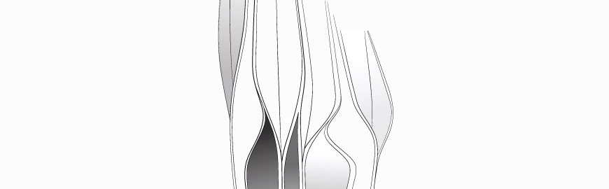 The collections of vases for Rosenthal by Zaha Hadid Design