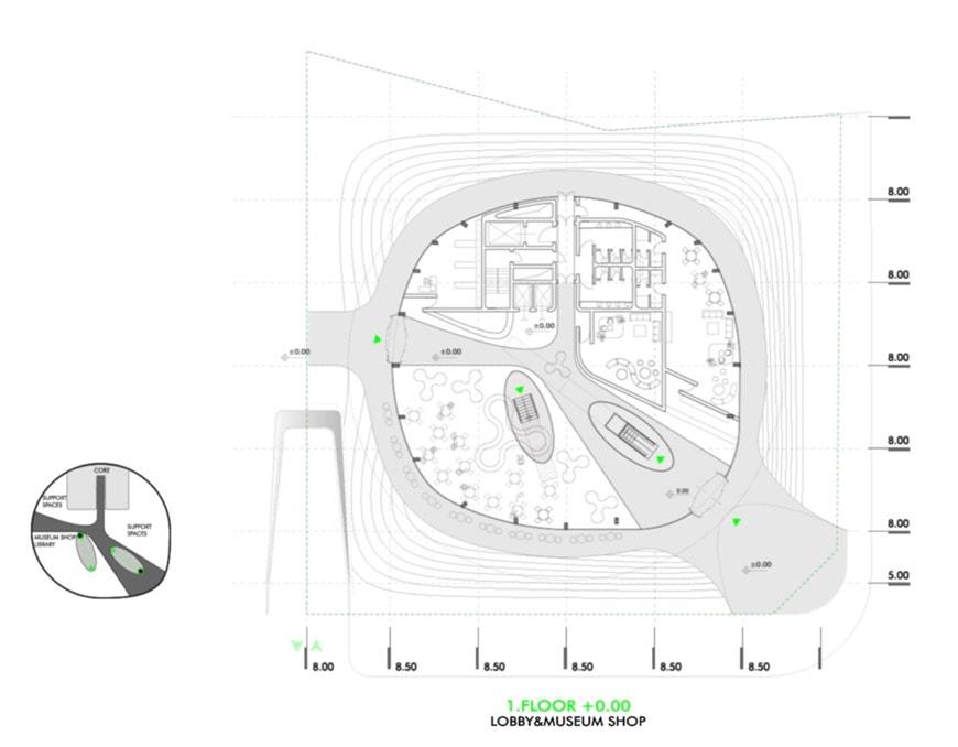 Robotic Science Museum Seoul Melike Altinisik Architects plan