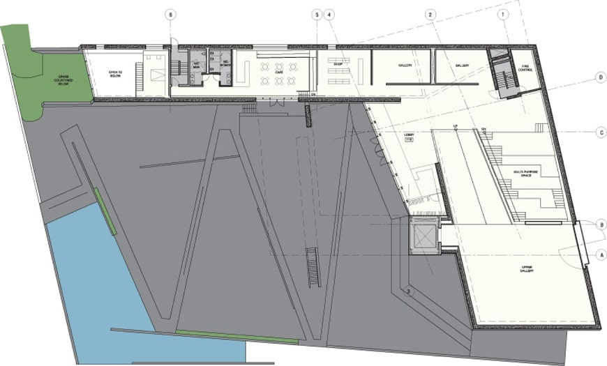 Sifang Art Museum Nanjing Steven Holl ground floor plan