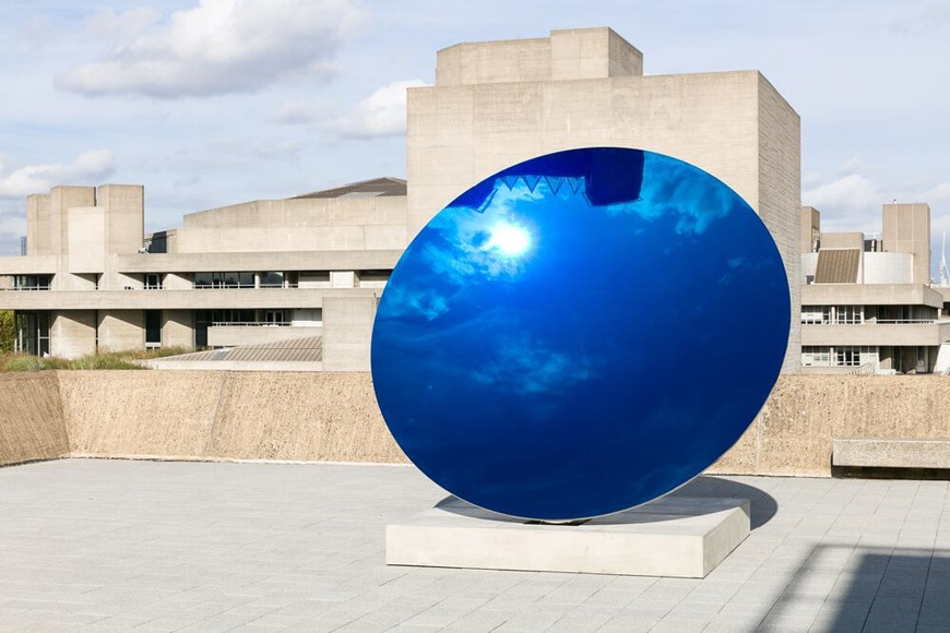 Anish Kapoor blue mirror Narcissus Garden Hayward Gallery London