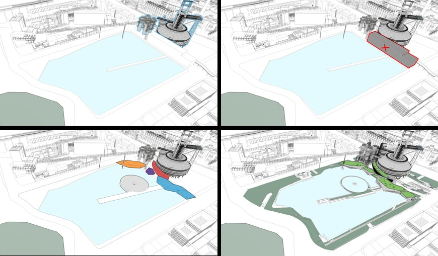 CCTN Design Shougang blast furmace museum Beijing diagram
