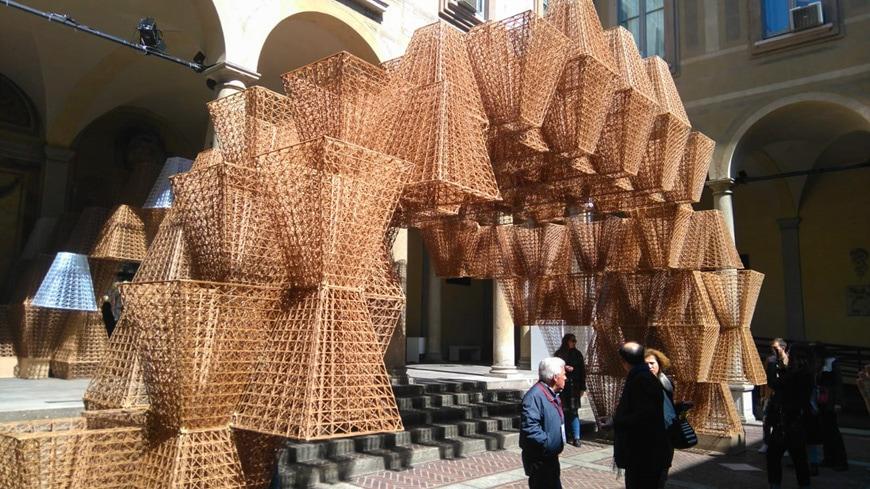 Conifera 3D-printed bioplastics installation COS+ Mamou-Mani2019 Milan Design Week Inexhibit 2