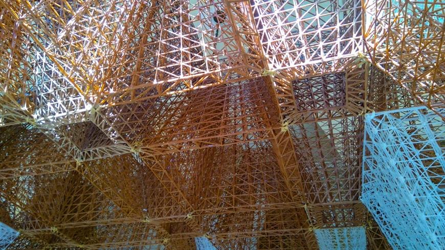 Conifera 3D-printed bioplastics installation COS+ Mamou-Mani2019 Milan Design Week Inexhibit 5