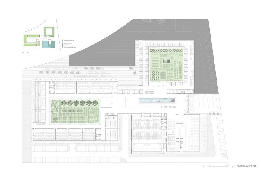 Vaillo Irigaray Architects Facultad de Turismo de Málaga University building ground floor plan
