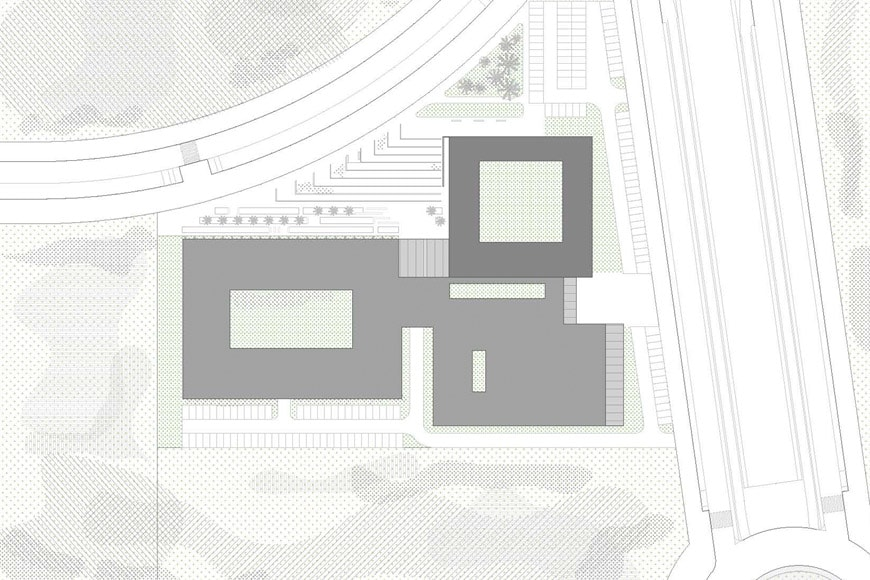 Vaillo Irigaray Architects Facultad de Turismo de Málaga University building site plan