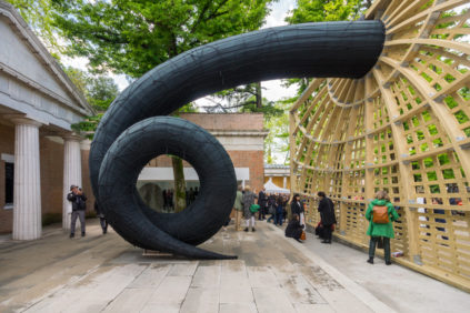 Martin Puryear, Swallowed Sun (Monstrance and Volute), 2019, United States Pavilion, Venice Art Biennale 2019 Inexhibit