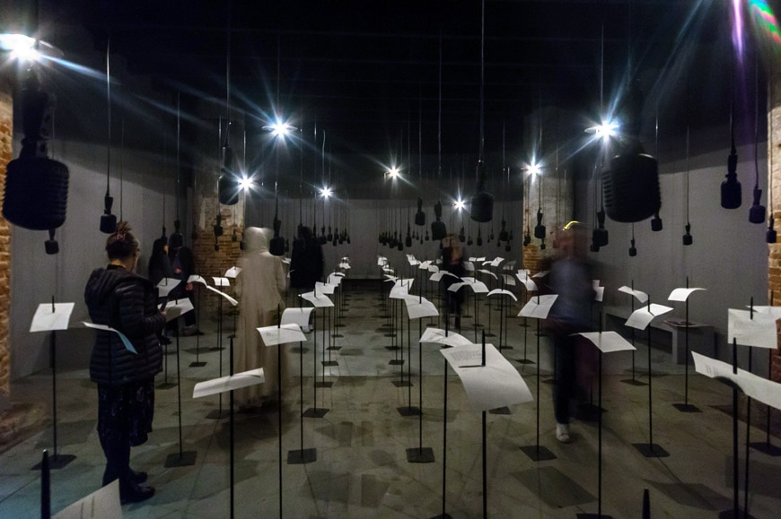 Shilpa Gupta - For, in your tongue, I cannot fit - Venice Art Biennale 2019 Inexhibit