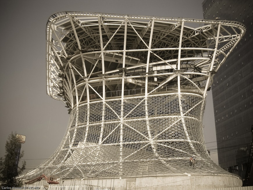 Museo Soumaya Plaza Carso Mexico City structural steel frame
