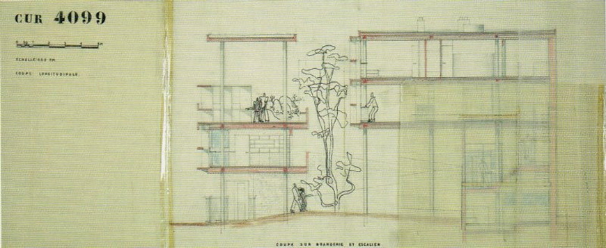 Le Corbusier, Casa Curutchet, La Plata, Argentina, section