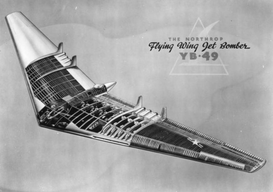 Northrop YB-49 Flying Wing airplane 2