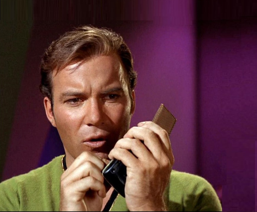 Star Trek Captain Kirk flip phone communicator