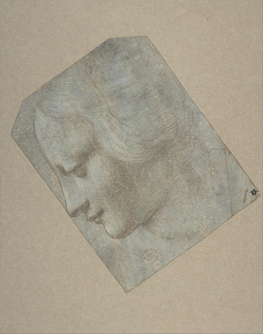 18.Poldi-Pezzoli-Milano-The Metropolitan-NY-Seguace-di-Leonardo-da-Vinci-Profilo-di-testa-donna