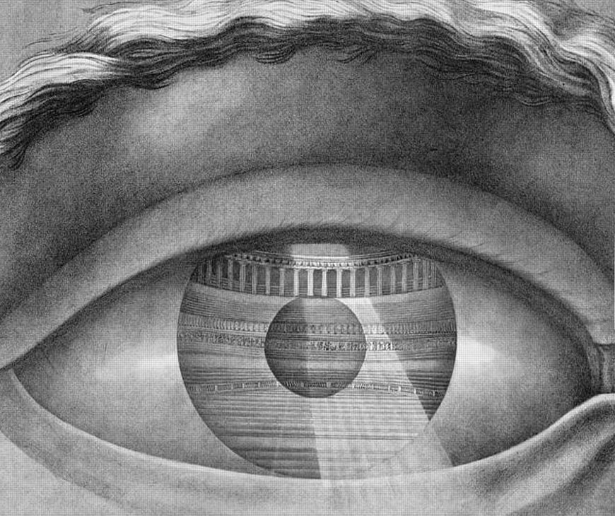 Eye drawing Theater Besancon Claude Nicolas Ledoux