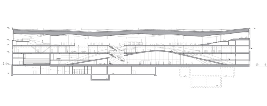 Helsinki-Central-Library-Oodi-ALA-Architects-longitudinal-section