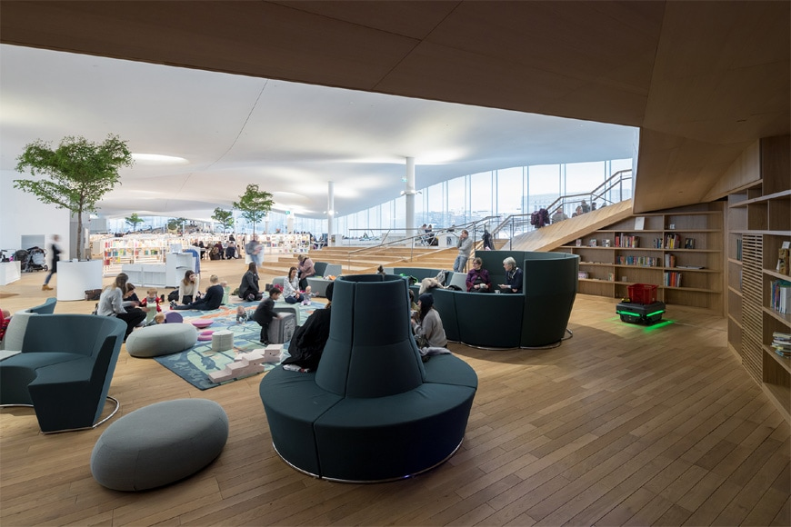 Helsinki Central Library Oodi ALA Architects reading room interior 8