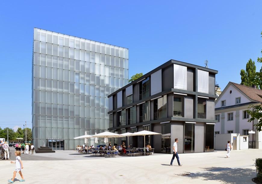 KUB Kunsthaus Bregenz, Peter Zumthor, exterior 3