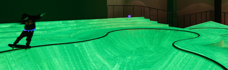 Fun with OooOoO! A big skatepark at Triennale Milano