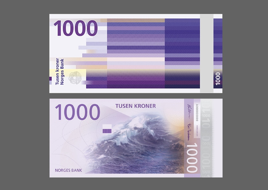 Snøhetta and Metric Design, new Norwegian banknotes 4
