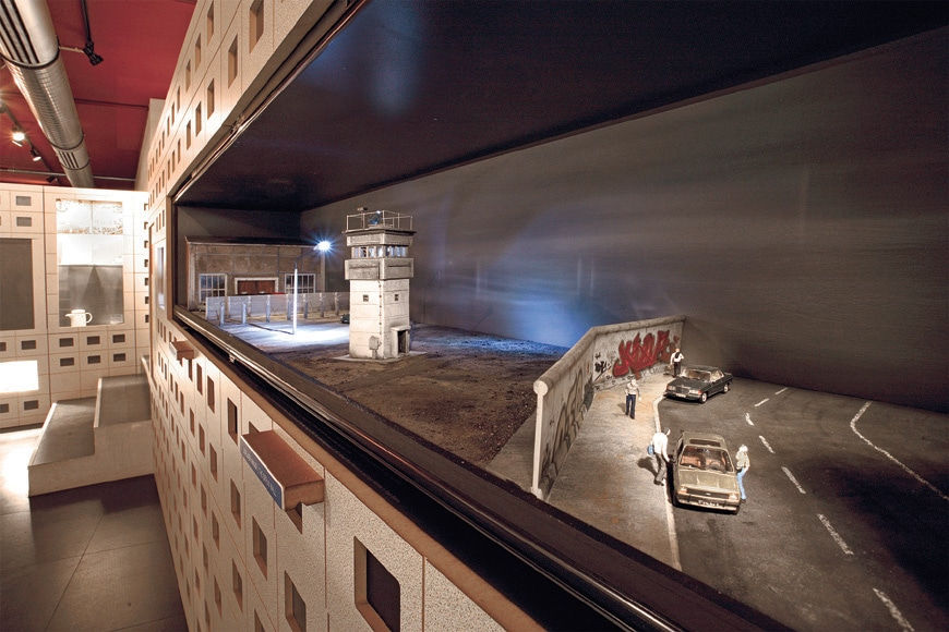 The DDR Museum Berlin Wall model