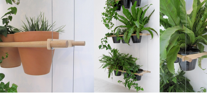Etcetera hanging flower pot system