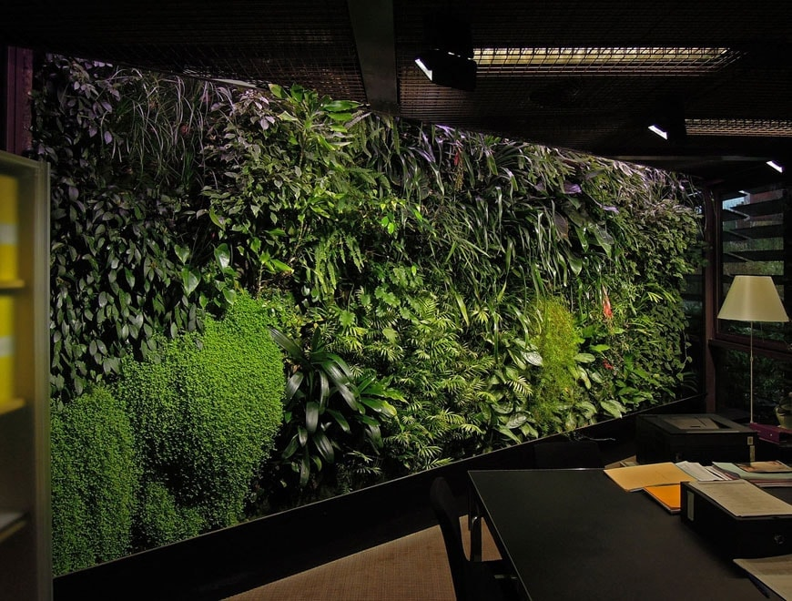 vertical home gardens Patrick Blank Quai Branly offices Paris