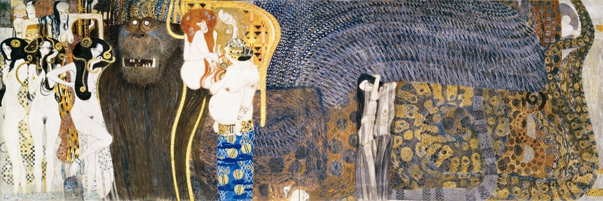 Gustav Klimt, Beethoven Frieze, Secession, Vienna, central panel
