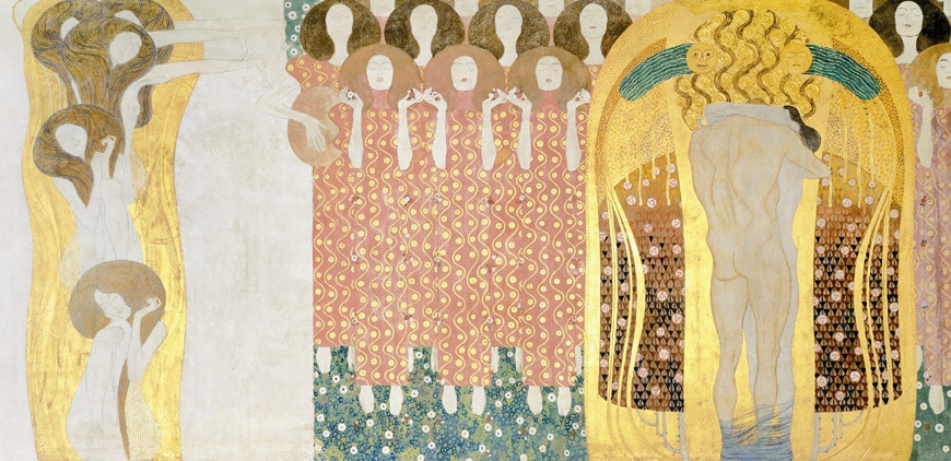 Gustav Klimt, Beethoven Frieze, Secession, Vienna, right side