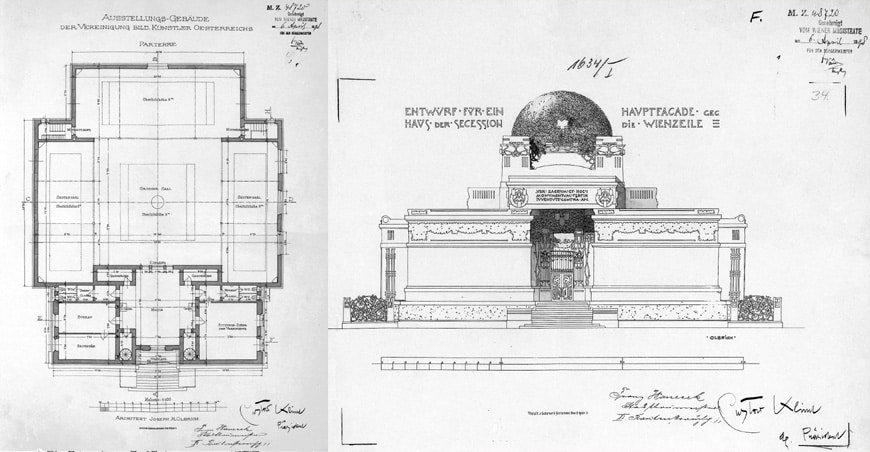 Secession Building Vienna Joseph Olbrich plan and elevation