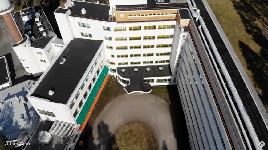 Paimio Sanatorium Alvar Aalto aerial 2