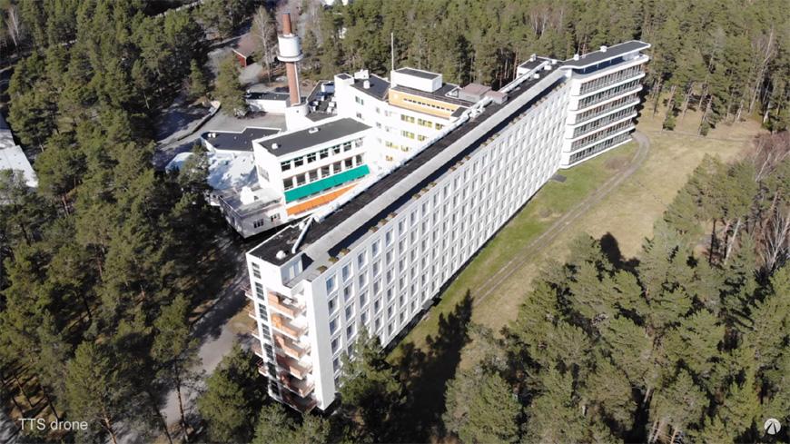 Paimio Sanatorium Alvar Aalto aerial 3
