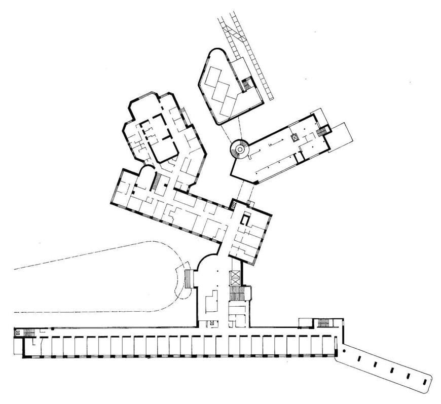 Paimio Sanatorium Alvar Aalto plan