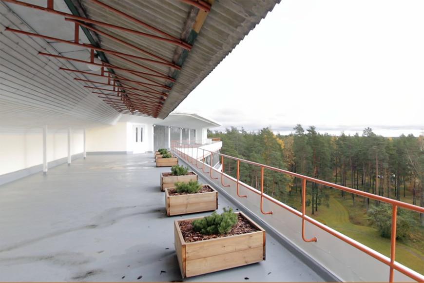 Paimio Sanatorium Alvar Aalto roof terrace