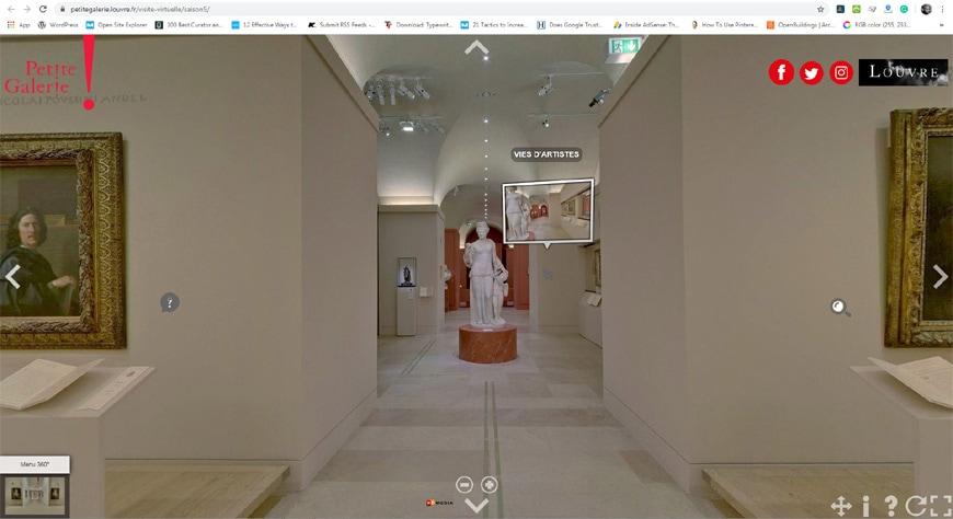 Louvre Museum Paris virtual tours page 2