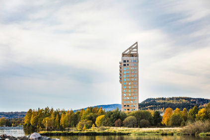 CLT goes tall. High-rise buildings in Cross-laminated timber