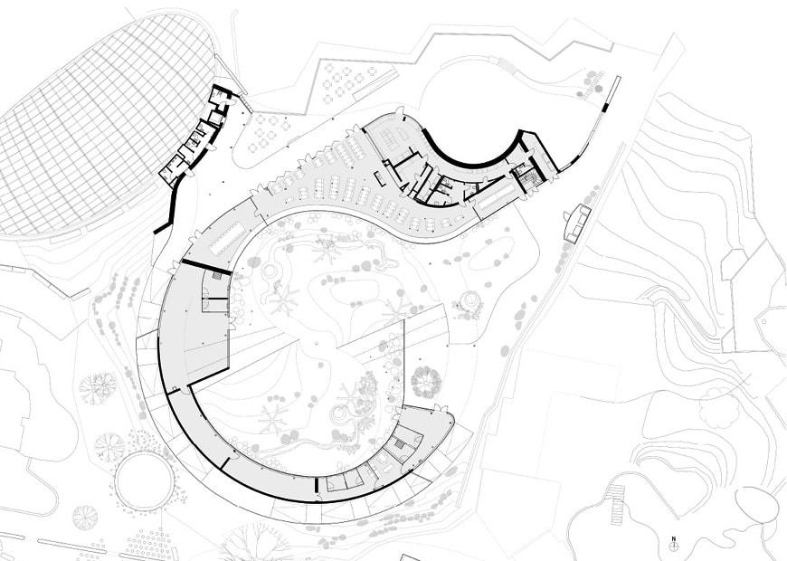 Panda House Copenhagen Zoo BIG Bjarke Ingels ground floor plan