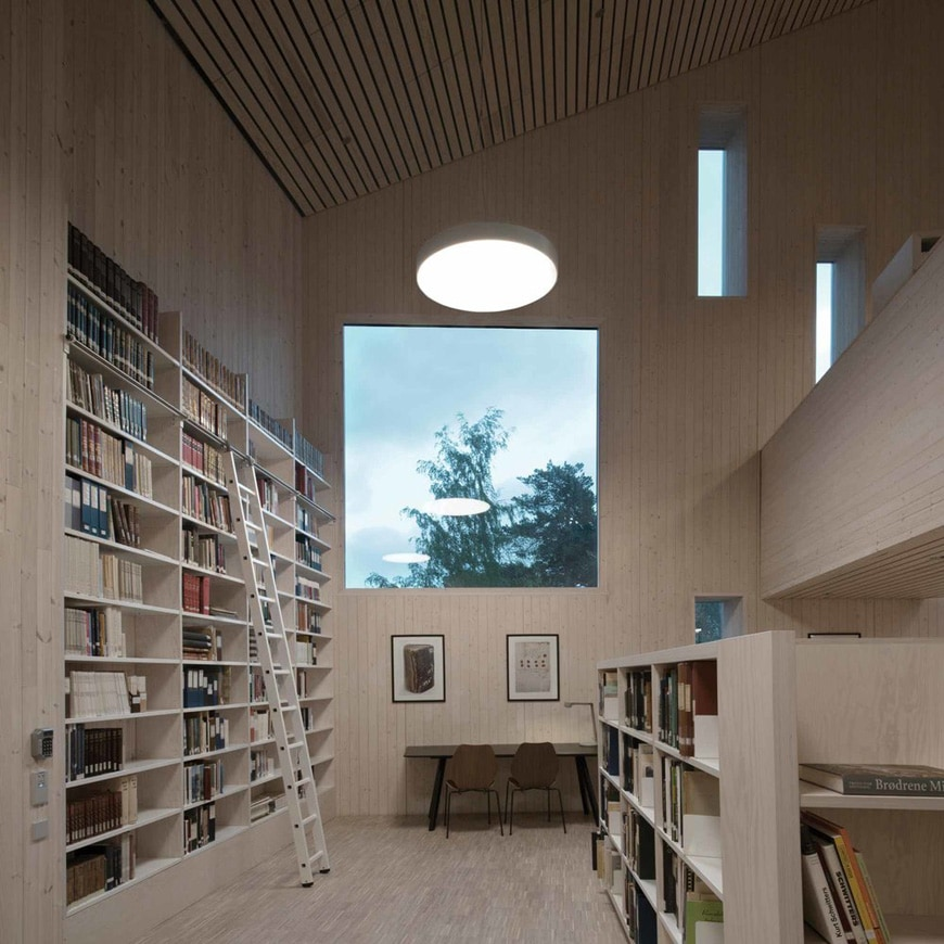 Romsdal Folk Museum, Molde, Norway, Reiulf Ramstad Arkitekter library