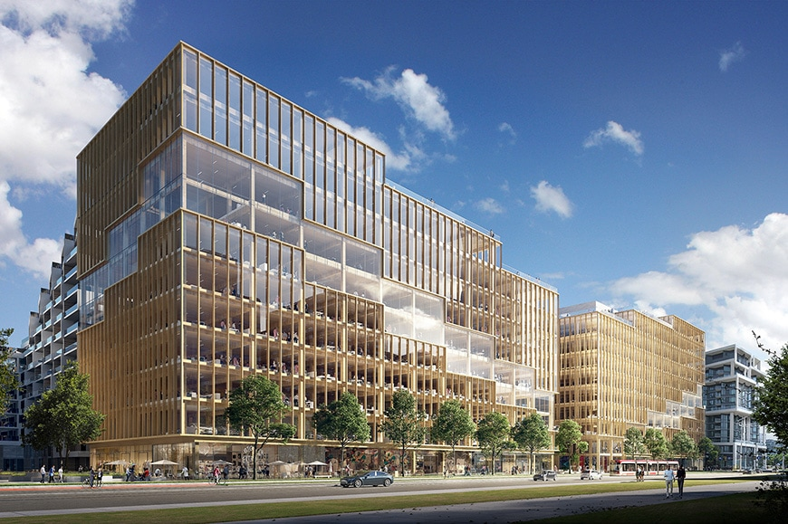 T3 Bayside timber office building Toronto 3XN architects 1