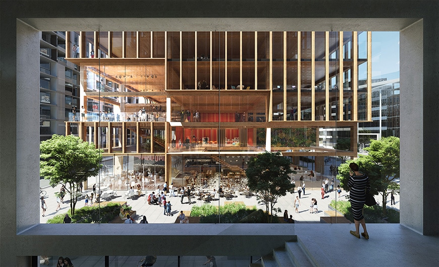 T3 Bayside timber office building Toronto 3XN architects 2
