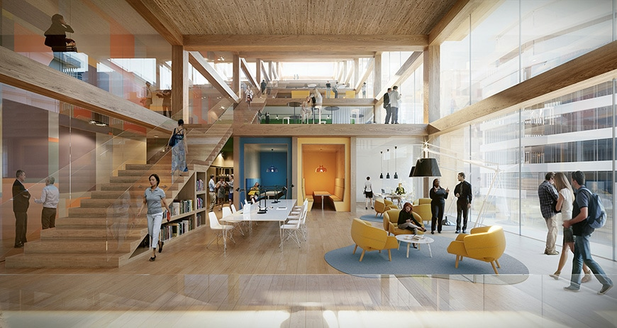 T3 Bayside timber office building Toronto 3XN architects 3