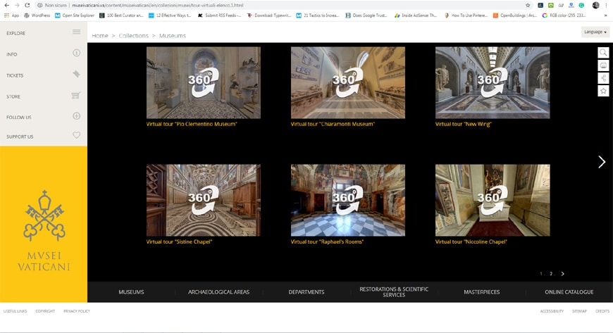 Vatican Museums virtual tour page 2