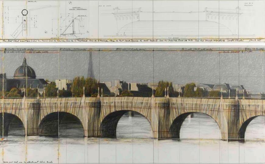 Centre-Pompidou-Paris-Christo-Pont-Neuf-1985-drawing