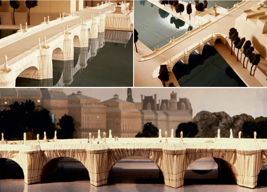 Centre-Pompidou-Paris-Christo-Pont-Neuf-scale-model-of-the-project-1981-91