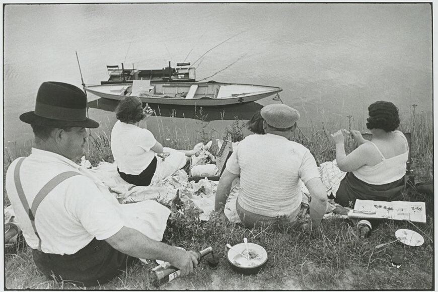 Henri-Cartier-Bresson-Dimanche sur Seine