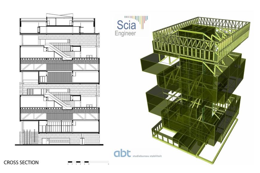 MAS Museum aan de Stroom Antwerp Neutelings Riedijk Architecten structure
