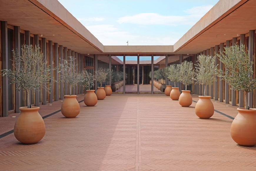 Rivesaltes Camp Memorial and Museum, Rudy Ricciotti, patio