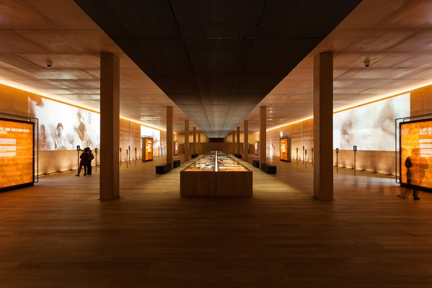 Rivesaltes Camp Memorial and Museum, Rudy Ricciotti, permanent exhibition interior 1